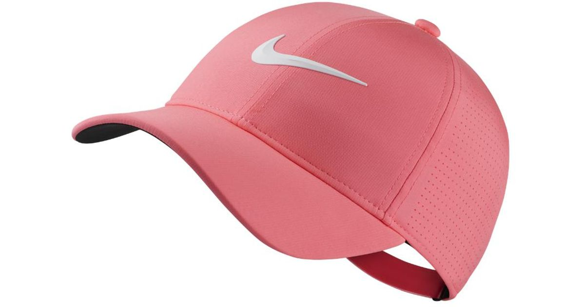 Lyst - Nike Aerobill Legacy 91 Adjustable Golf Hat (pink) - Clearance Sale  in Pink 54cae0259237