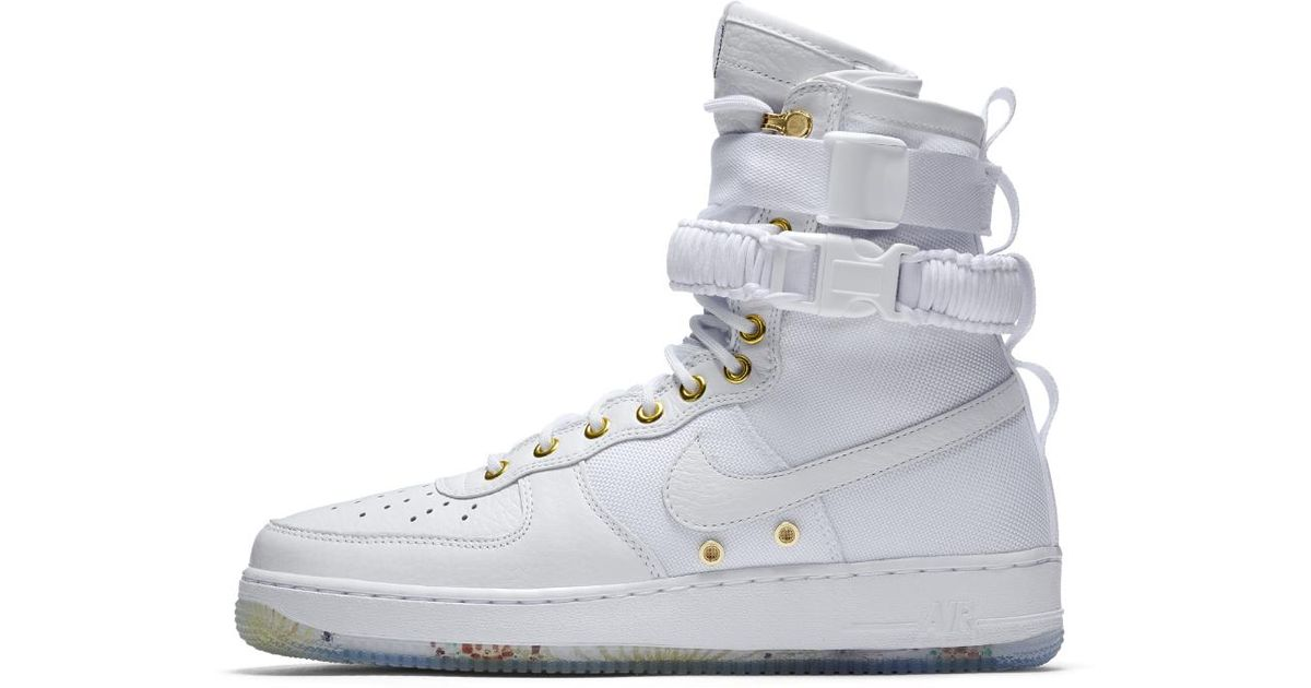 Nike White Sf Air Force 1 Lny Qs Men's Shoe for men