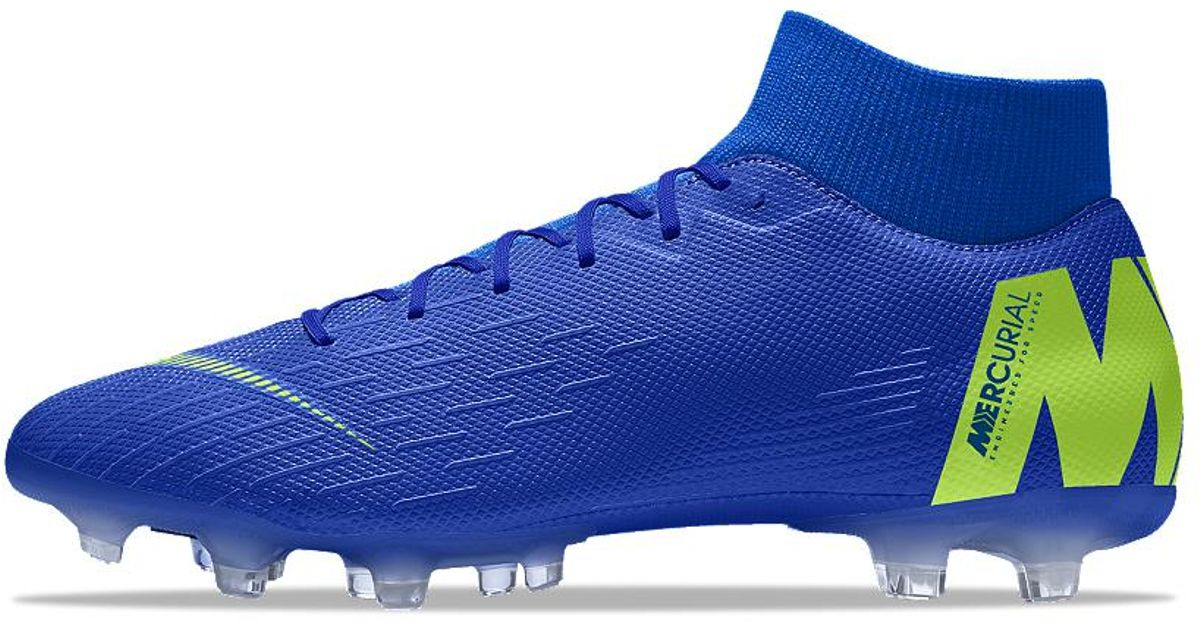 4648f0f29bf Nike Mercurial Superfly Vi Academy Mg Id Multi-ground Soccer Cleats in Blue  for Men - Lyst