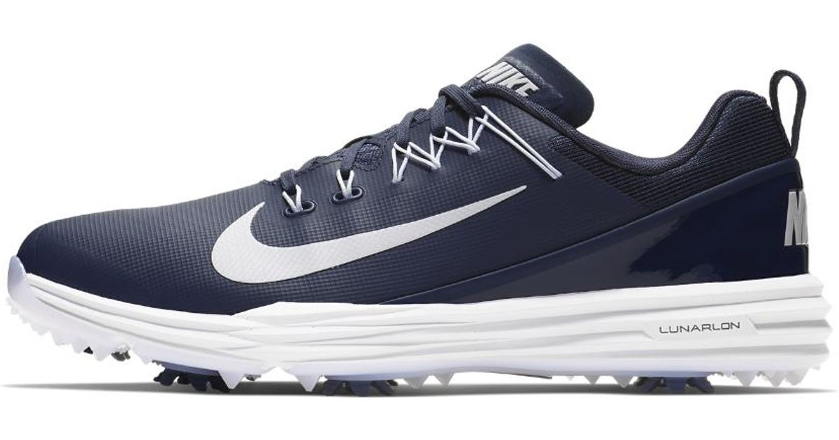 lyst nike lunar comando 2 uomini scarpa da golf in blu per gli uomini.