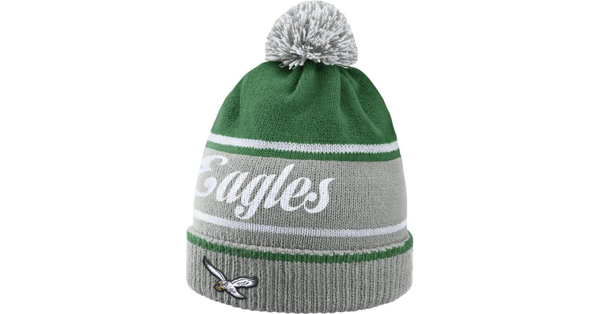 Lyst - Nike Historic (nfl Eagles) Knit Hat (silver) in Green for Men 3d9d4c6a414