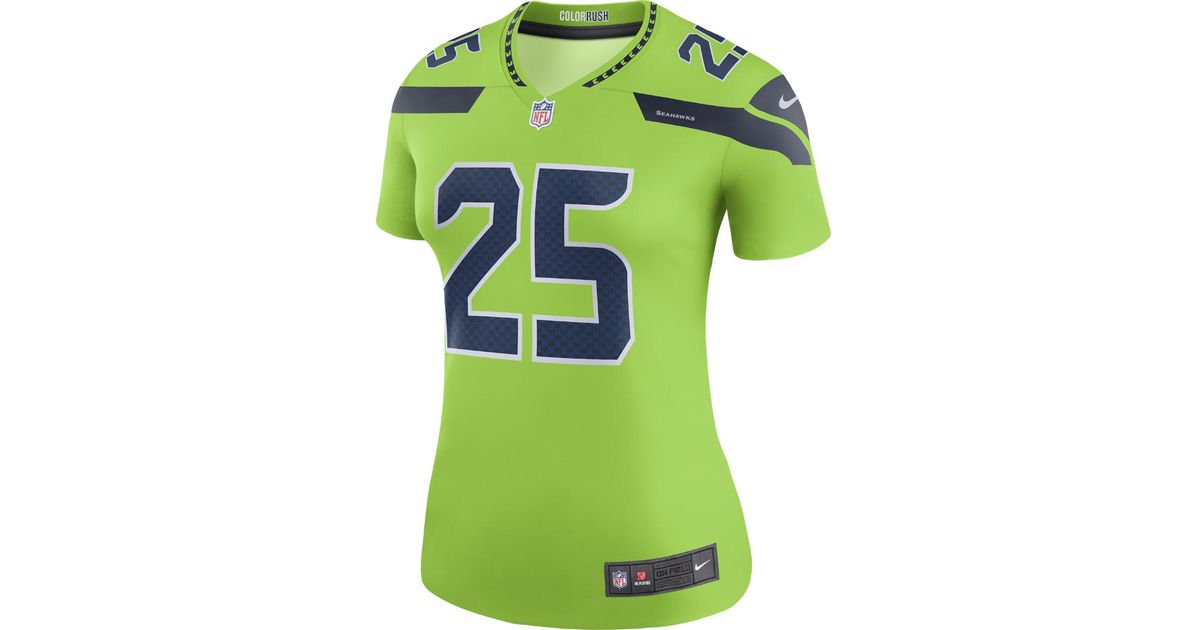 new concept 948be 25114 Nike Green Richard Sherman Seattle Seahawks Color Rush Legend Jersey