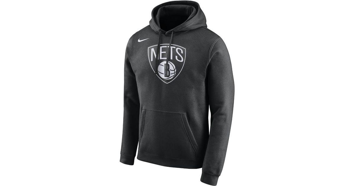 e14f8c6215f4 Lyst - Nike Brooklyn Nets Men s Fleece Nba Hoodie in Black for Men
