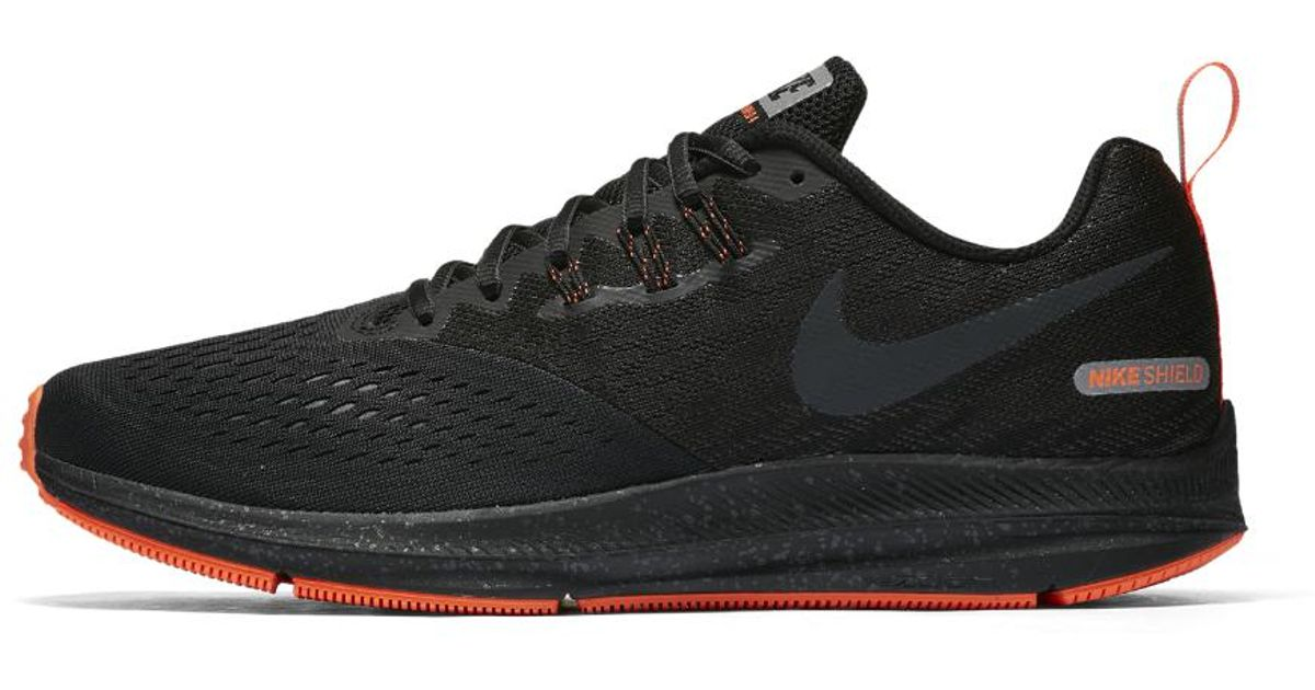 ... france lyst nike air zoom winflo 4 shield mens running shoe in black for  men 848a3 a54699fb9