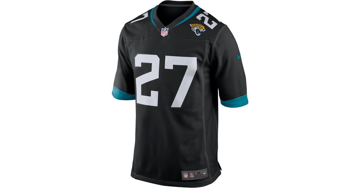 fa1337791 Lyst - Nike Nfl Jacksonville Jaguars (leonard Fournette) Men s Football Away  Game Jersey in Black for Men
