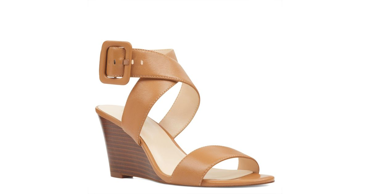 84a5f0e33d3 Lyst - Nine West Jem Open Toe Wedges