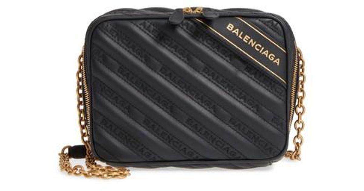 c7c5c88b0f16 Lyst - Balenciaga Extra Small Blanket Reporter Crossbody Bag in Black