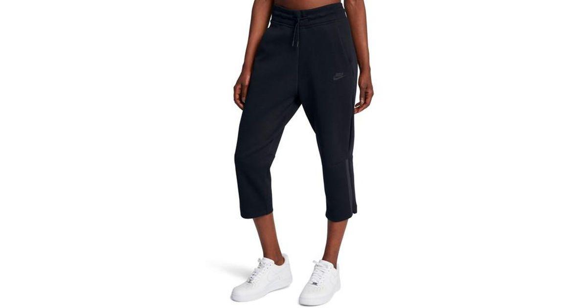 Lyst - Nike Sportswear Women s Tech Fleece Sneaker Pants in Black 89437d0d3c