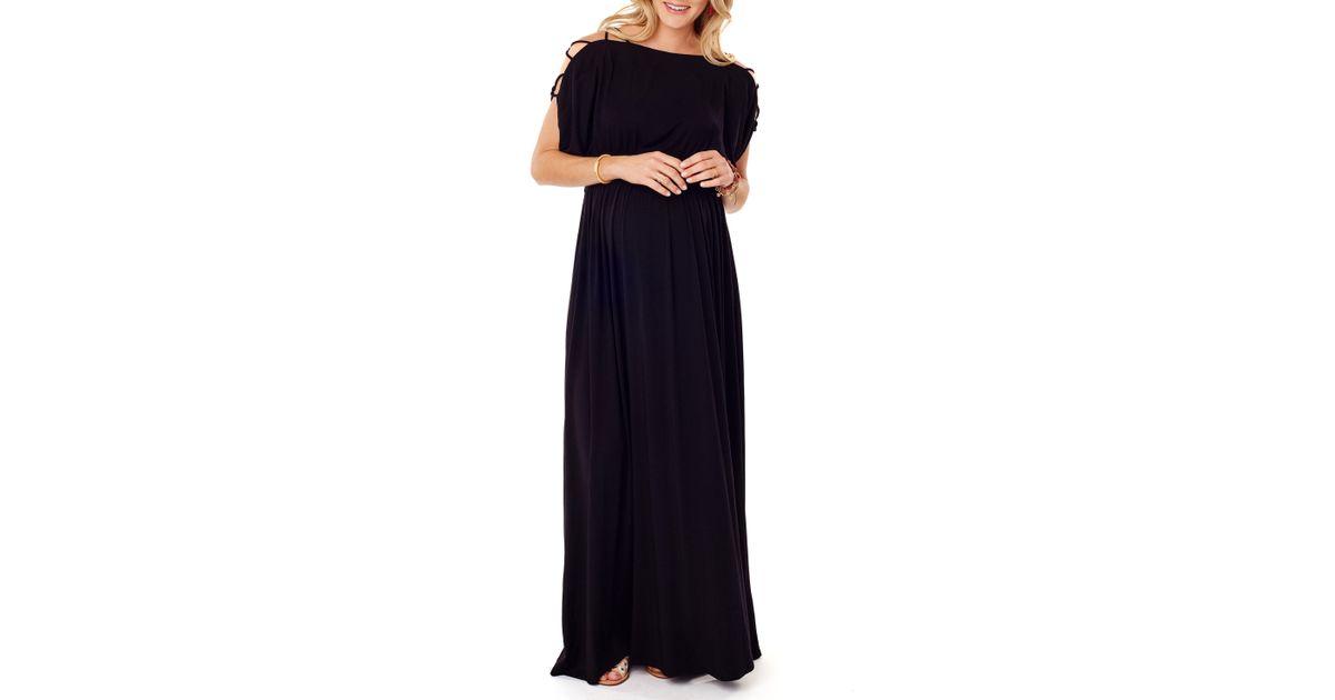 e0ed5812f191 Lyst - Ingrid & Isabel Ingrid & Isabel Smocked Empire Waist Maternity Maxi  Dress in Black