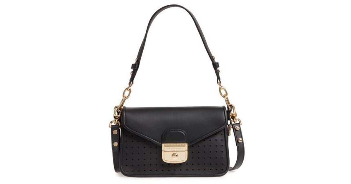 ad4ca26d747d Longchamp Small Mademoiselle Calfskin Leather Crossbody Bag in Black - Lyst