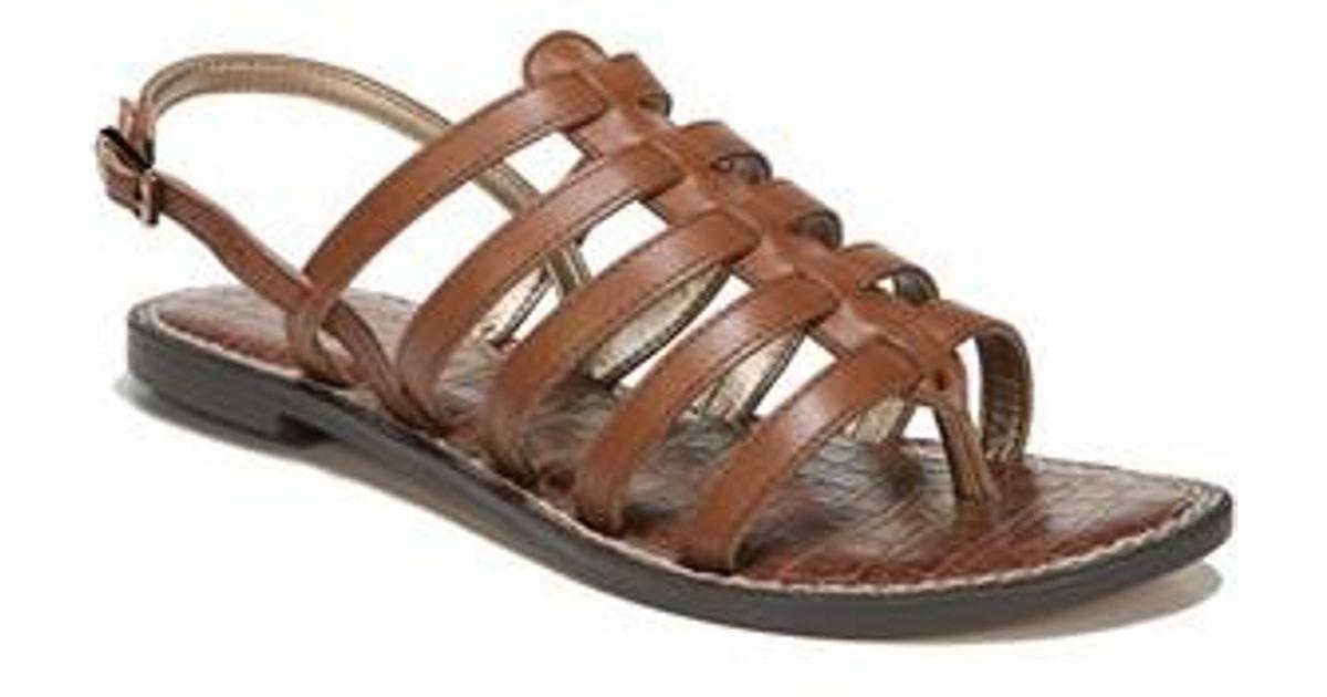 817a75f21efa Sam Edelman Garland Strappy Sandal in Brown - Lyst