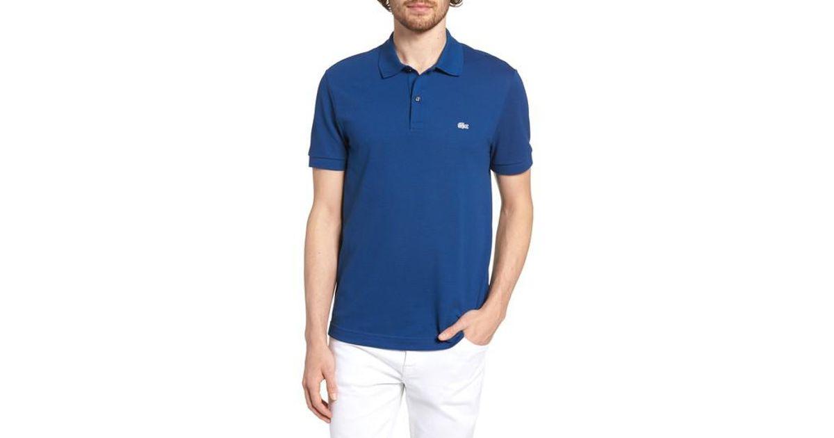 4ef384701de19 Lyst - Lacoste  white Croc  Regular Fit Pique Polo in Blue for Men