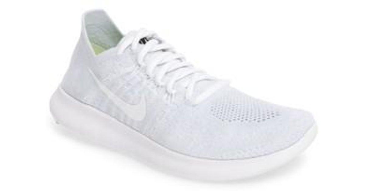 Lyst - Nike Free Run Flyknit 2 Running Shoe in White 0a1eca991cd3