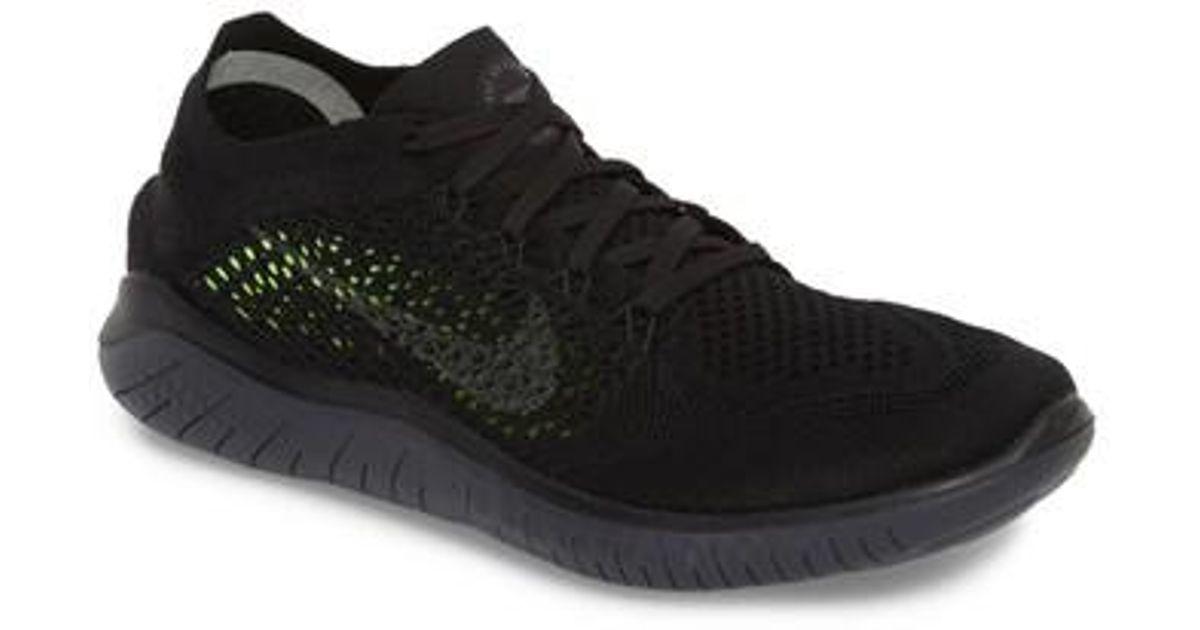 450118918bb2 Lyst - Nike Free Rn Flyknit 2018 Running Shoe in Black for Men
