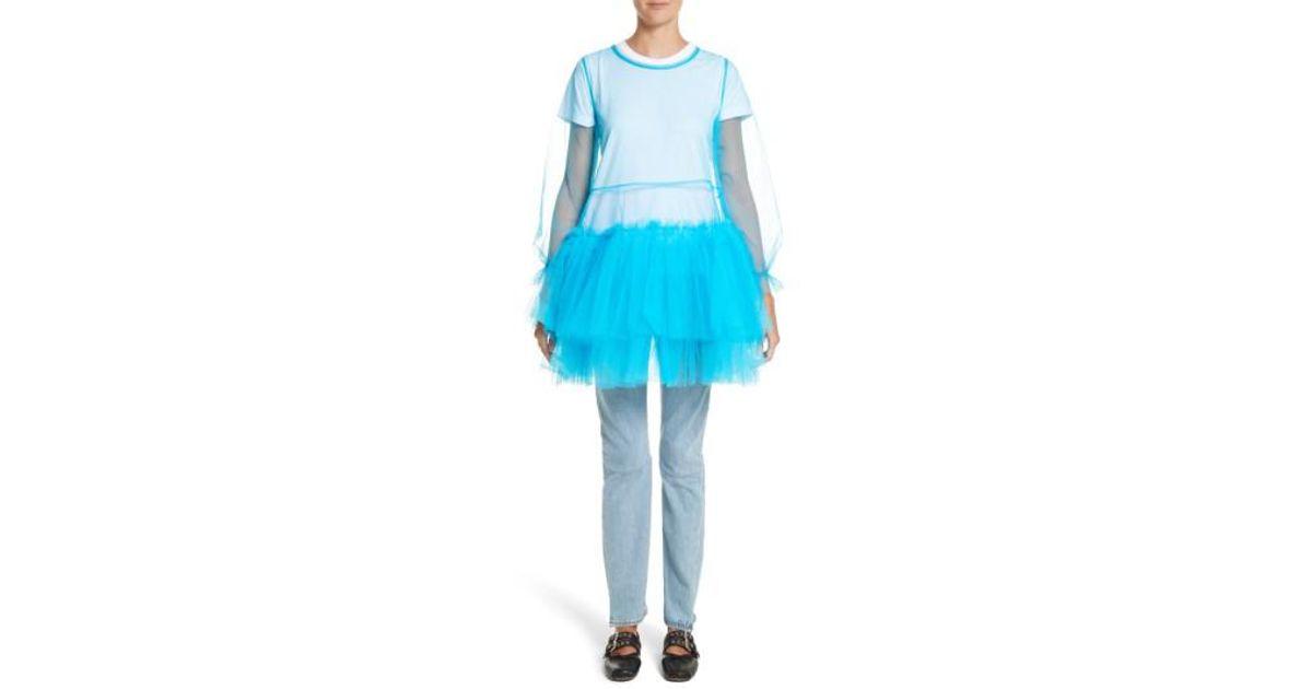 Lyst Molly Goddard Tulle In Mini Blue Agatha Dress rdQthCsx