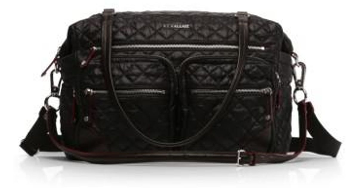 Lyst Mz Wallace Crosby Quilted Traveler Oxford Nylon Diaper Bag In Black