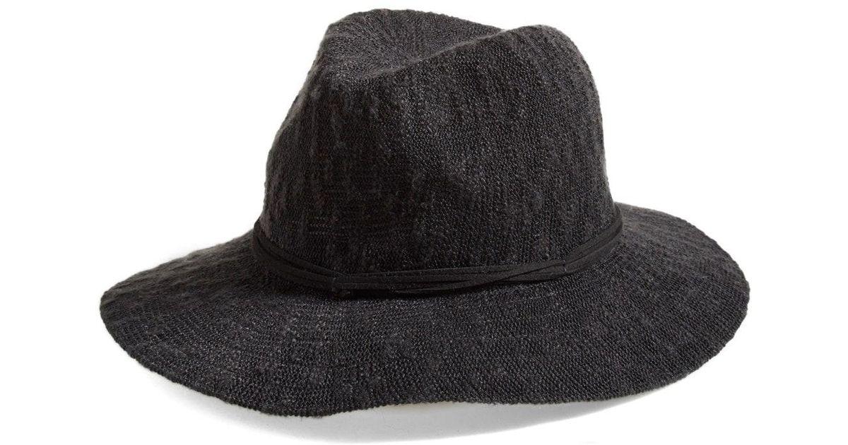 Lyst - Treasure   Bond Slub Knit Panama Hat in Black ec19eaf7a328