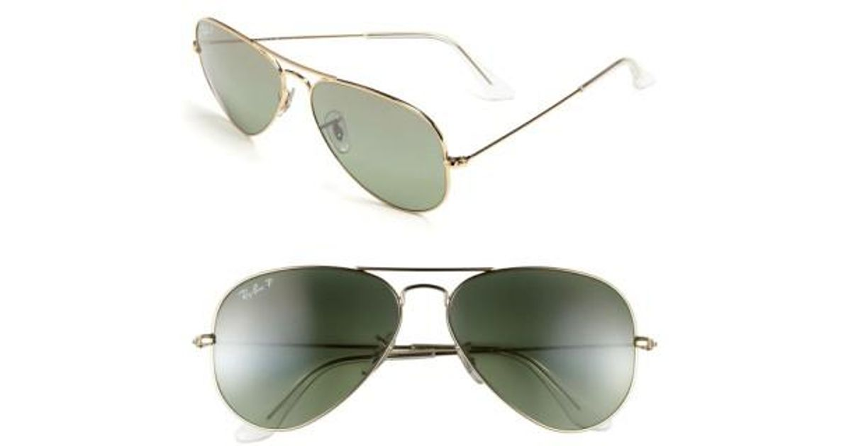 cb0e1669f10e9 Lyst - Ray-Ban  original Aviator  58mm Polarized Sunglasses - Champagne  Polarized in Green for Men