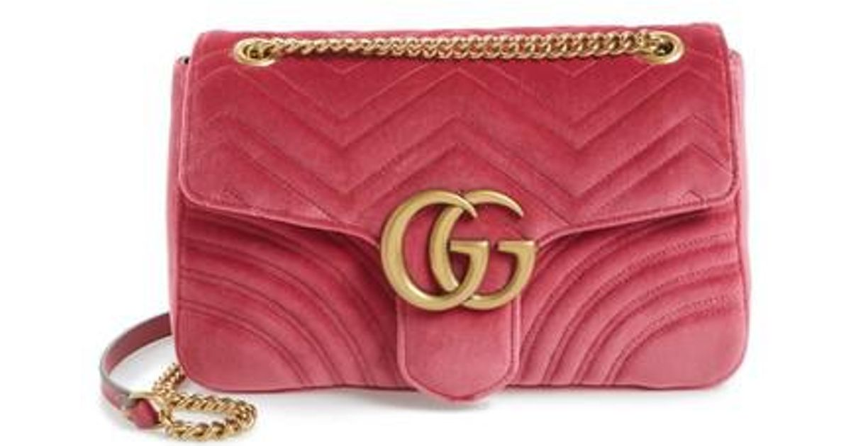 75d693661d2d73 Gucci Medium Gg Marmont 2.0 Matelassé Velvet Shoulder Bag in Purple - Lyst