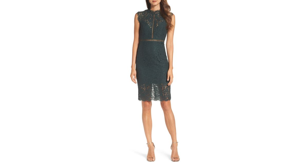9bfbbdf41b51 Bardot Lace Sheath Dress in Green - Lyst