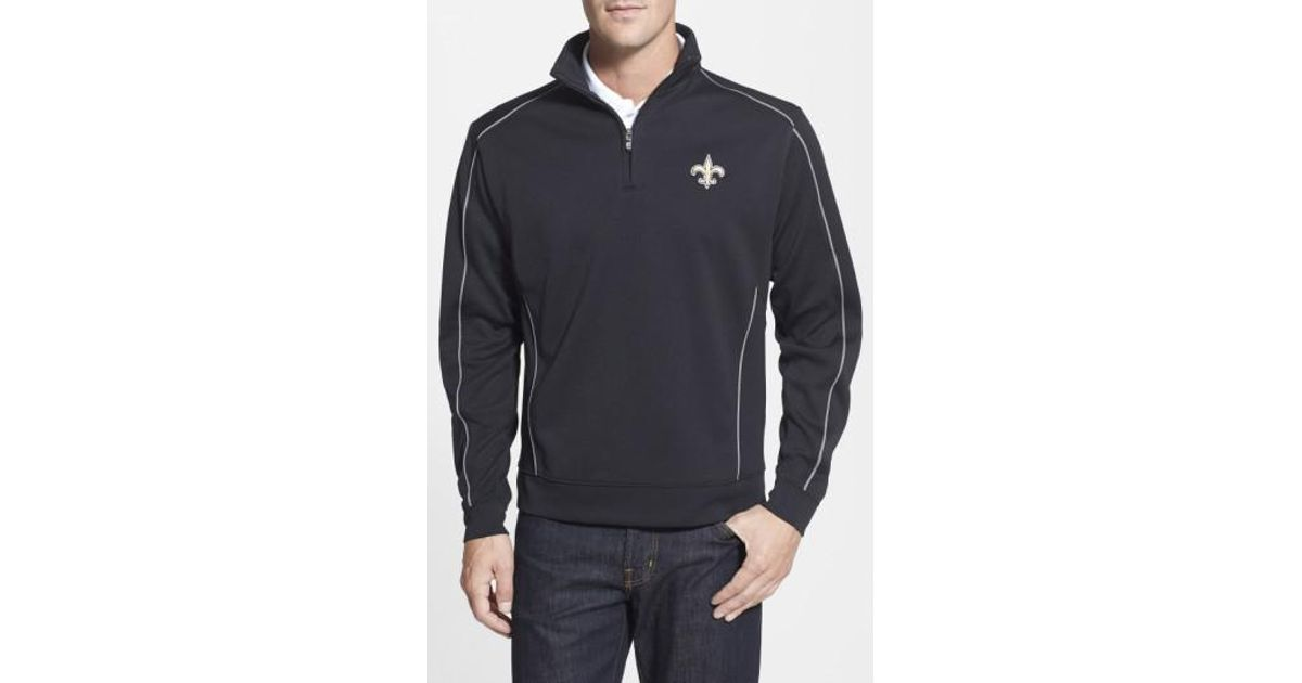 Lyst - Cutter   Buck  new Orleans Saints - Edge  Drytec Moisture Wicking  Half Zip Pullover in Black for Men 15d2cfda6