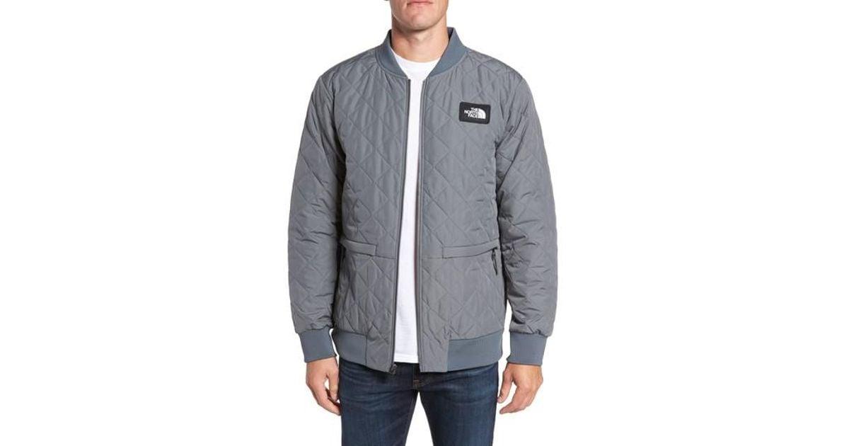 suchen neu kaufen guter Verkauf The North Face Gray Distributor Quilted Bomber Jacket for men