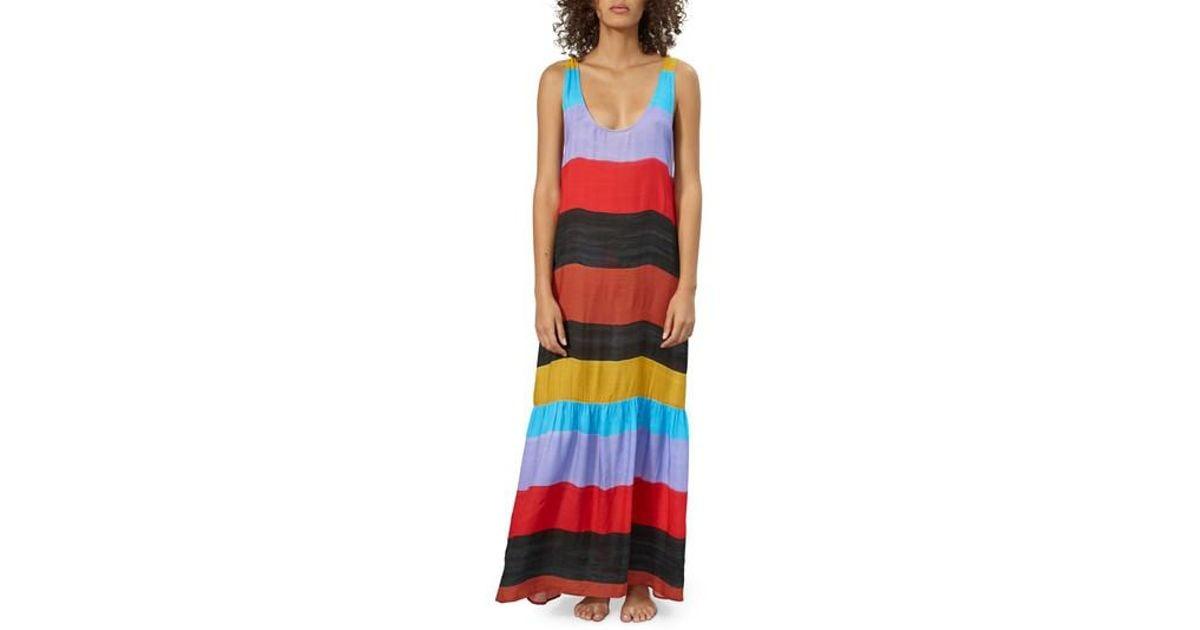 2d13cedec2 Mara Hoffman Valentina Stripe Cover-up Dress in Black - Lyst