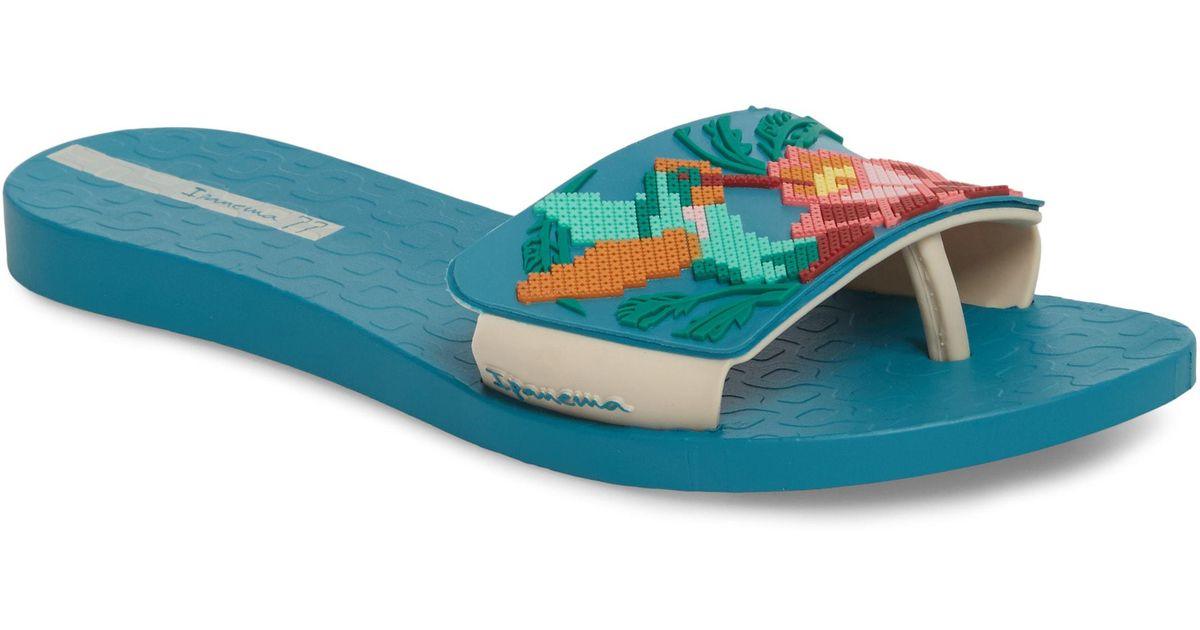 256f0b1ef15 Lyst - Ipanema Nectar Floral Slide Sandal - Save 57%