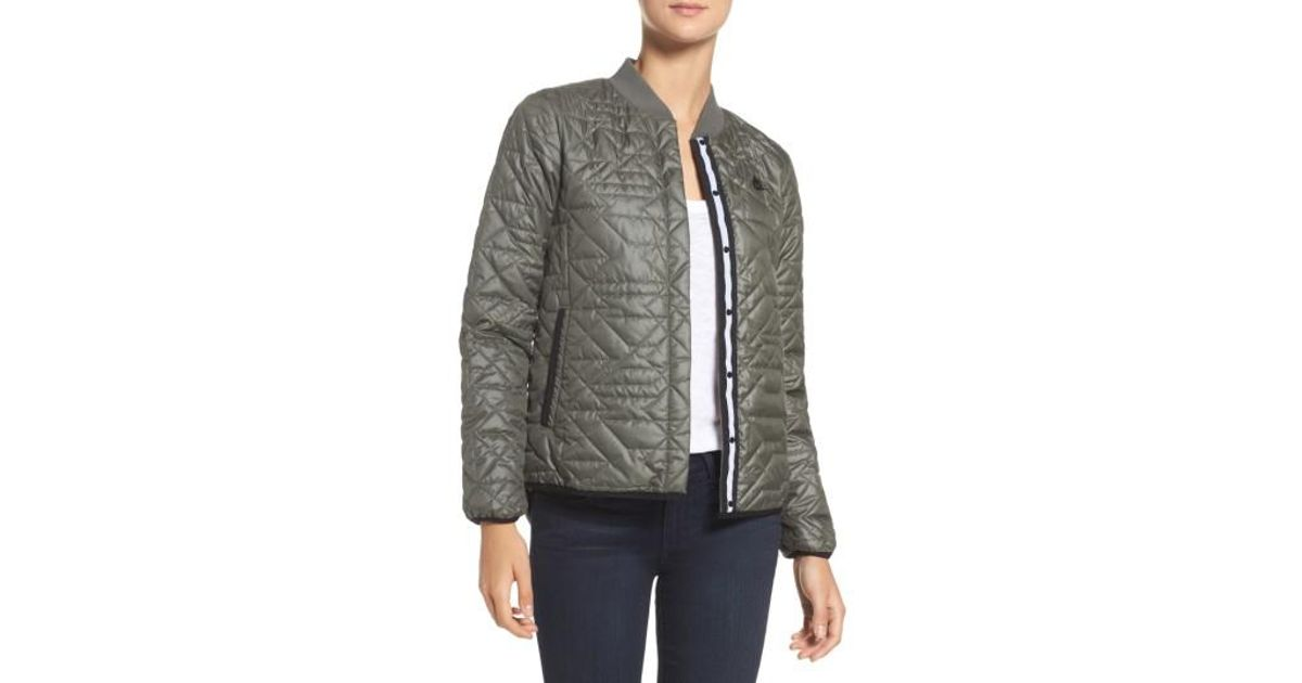 6d98e378372d Lyst - Nike Quilted Down Bomber Jacket in Black