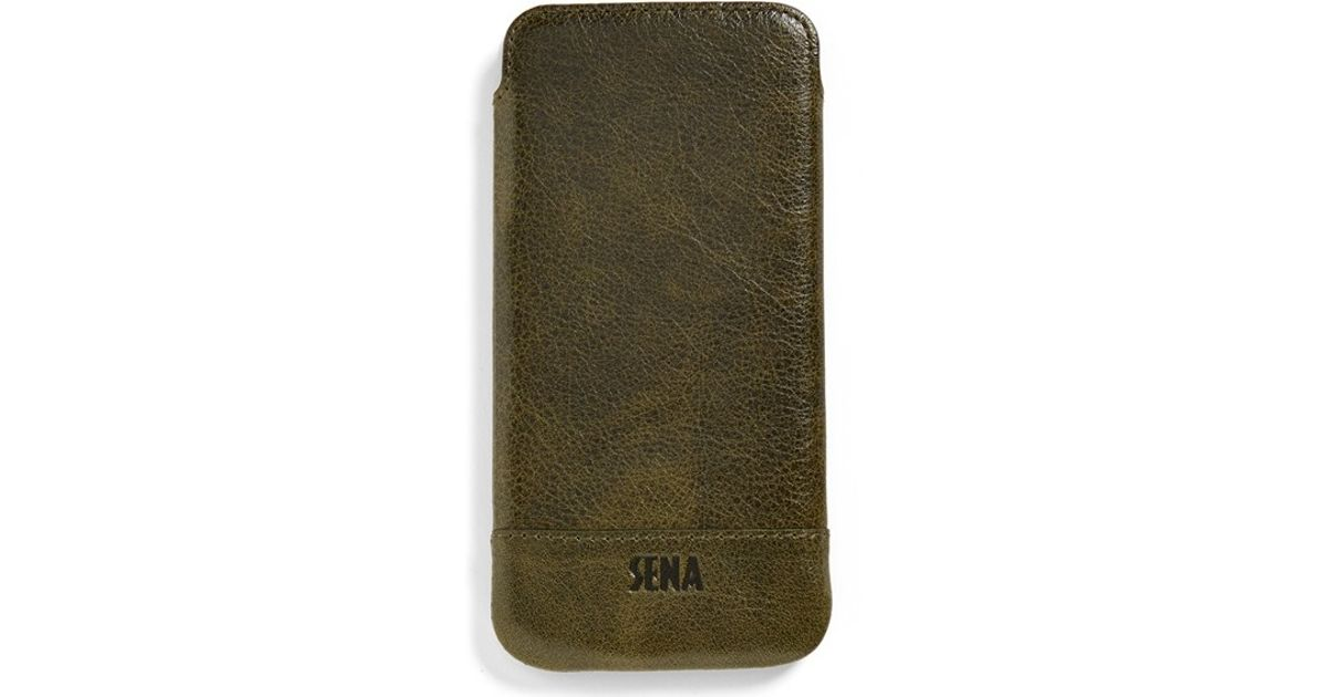 best cheap 615df 01cfa Sena - Green Heritage - Ultra Slim Leather iPhone 6 & 6s Case for Men - Lyst