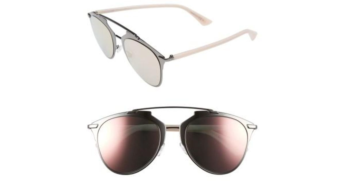 577f38c064fc Lyst - Dior Reflected 52mm Brow Bar Sunglasses - Dark Ruthenium  Pink in  Blue