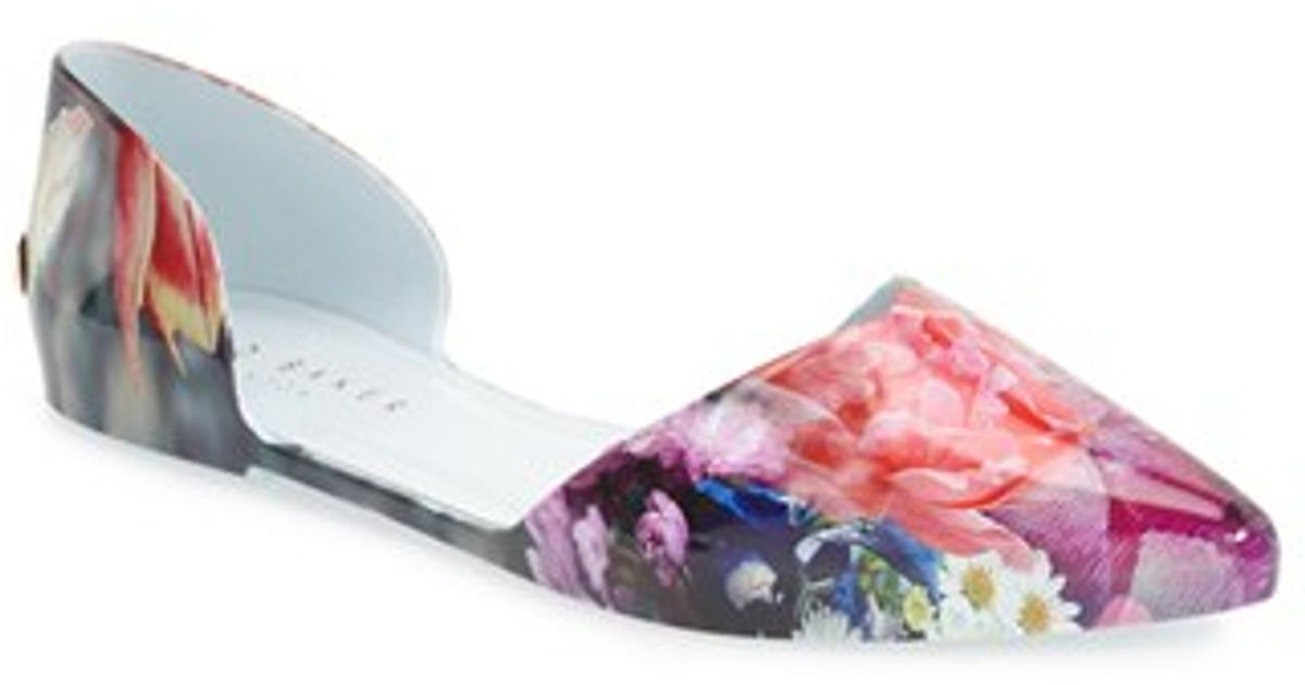 915a3e971 Lyst - Ted Baker  rikyu  Jelly D orsay Flat