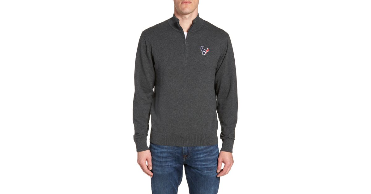 Lyst - Cutter   Buck Houston Texans - Lakemont Regular Fit Quarter Zip  Sweater in Black for Men 7d7dda1cc