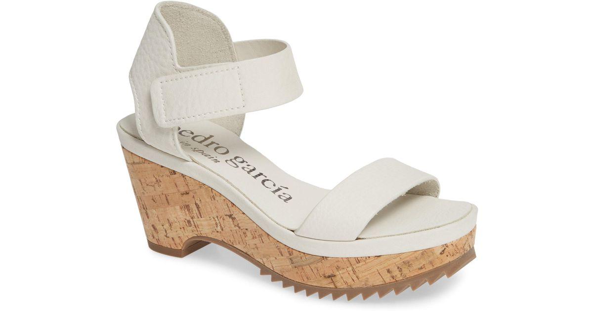 f8810da1876 Lyst - Pedro Garcia Franses Flatform Sandal in White