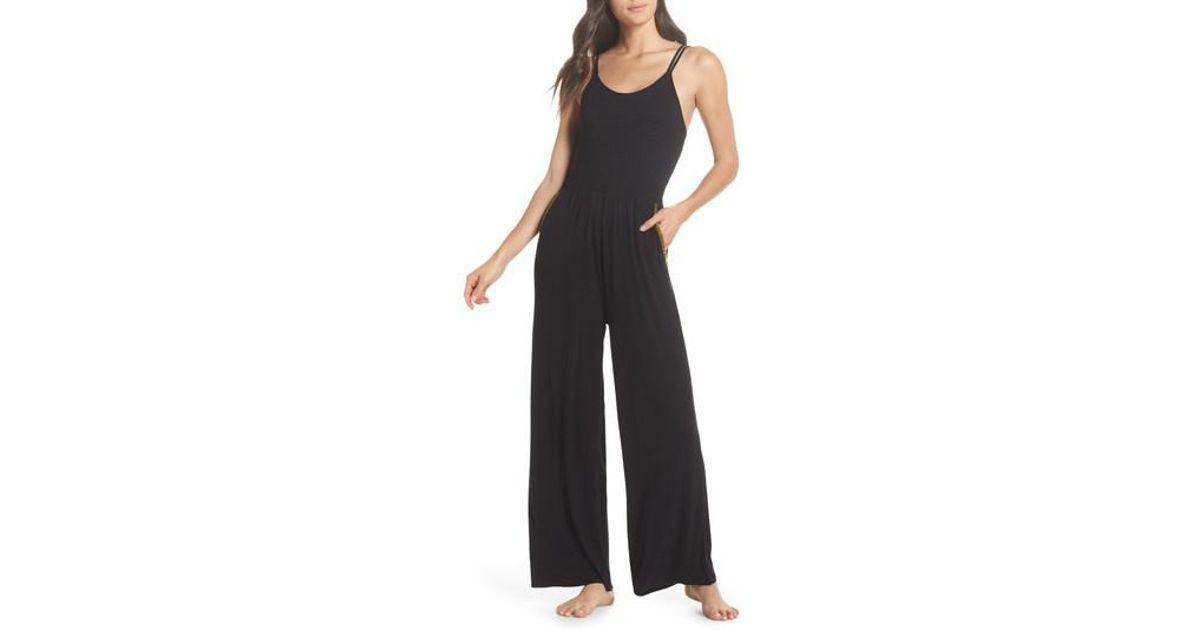 b2565d0bb41 Lyst - Honeydew Intimates Smocked Lounge Jumpsuit in Black