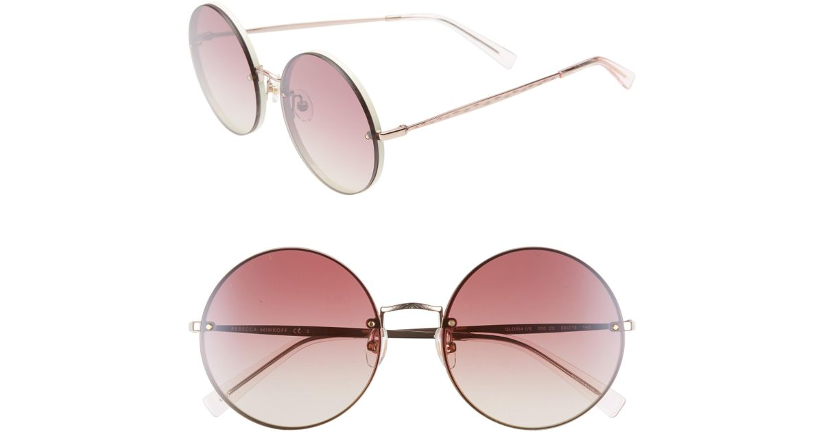 285ff0ab9a916 Rebecca Minkoff. Women s Gloria1 56mm Round Sunglasses