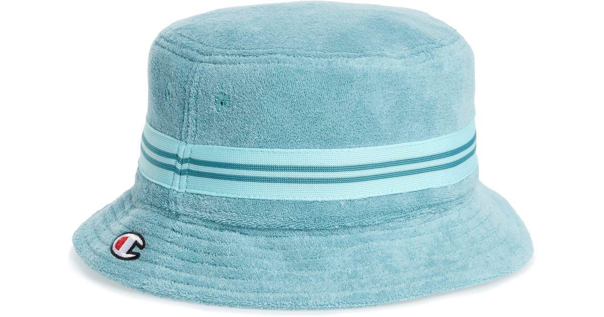420b1d58fe2af5 Champion Terry Bucket Hat in Blue for Men - Lyst
