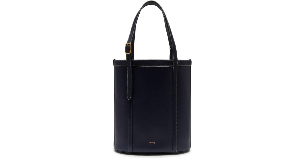 Lyst - Mulberry Small Wilton Tote In Midnight Silky Calf in Blue 45baf21ac7196