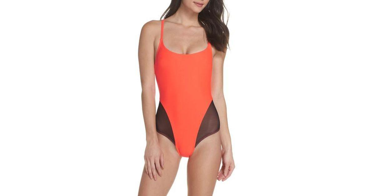 911a3f1002d Lyst - Chromat Delta X One-piece Swimsuit in Orange