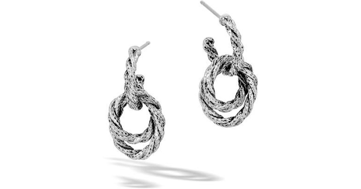 John Hardy Classic Chain Sterling Silver Twisted Hoop Earrings RuGnKJKC