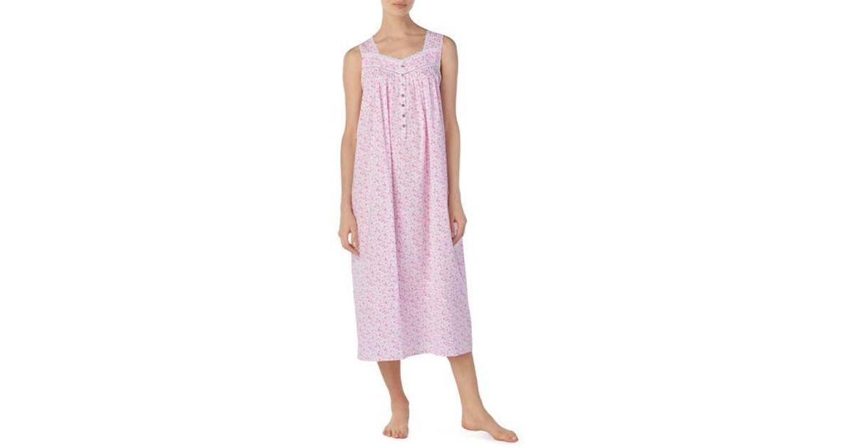4d2f62d082 Lyst - Eileen West Cotton Lawn Ballet Nightgown in Pink