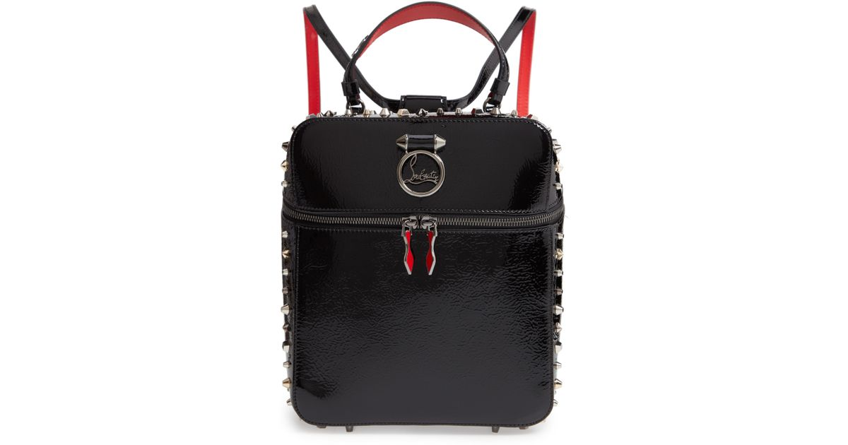 da08804b80f8 Lyst - Christian Louboutin Rubylou Patent Leather Backpack in Black