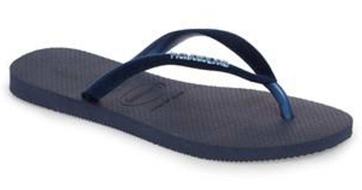 7bb15cf866ef57 Lyst - Havaianas Slim Velvet Flip Flop in Blue