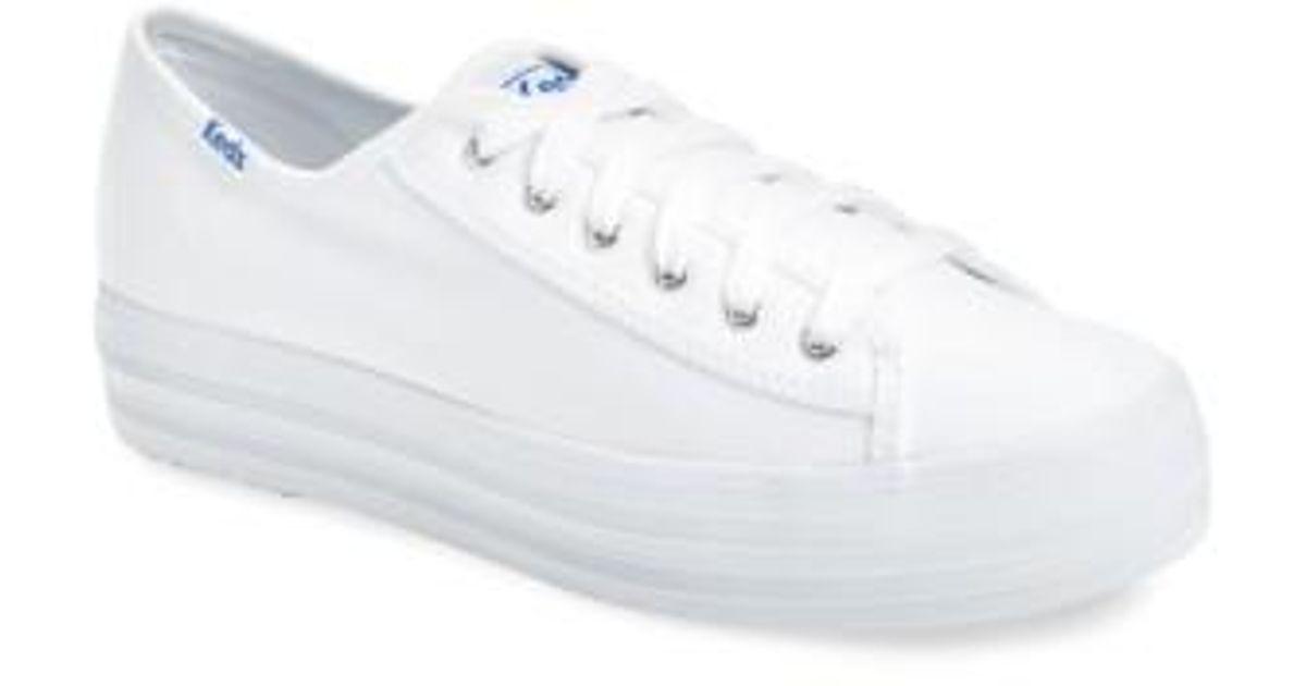de83c0d5d61 Lyst - Keds (r) Triple Kick Platform Sneaker (women) in White