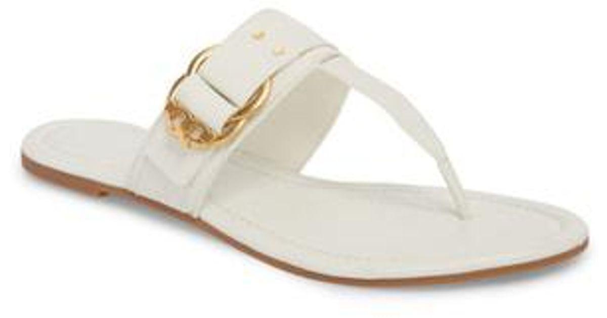 239f26b3f64e Lyst - Tory Burch Marsden Flat Thong Sandal in White
