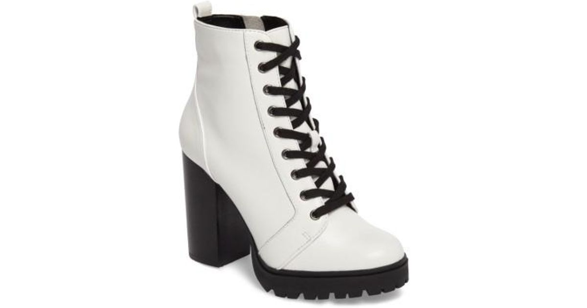 f24b4540f5e Lyst - Steve Madden Laurie Platform Bootie in White