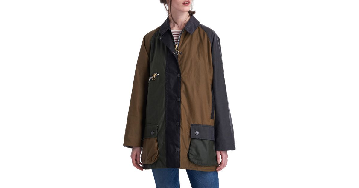 839587d461796 Barbour X Alexa Chung Patch Weatherproof Waxed Cotton Jacket in Black - Lyst