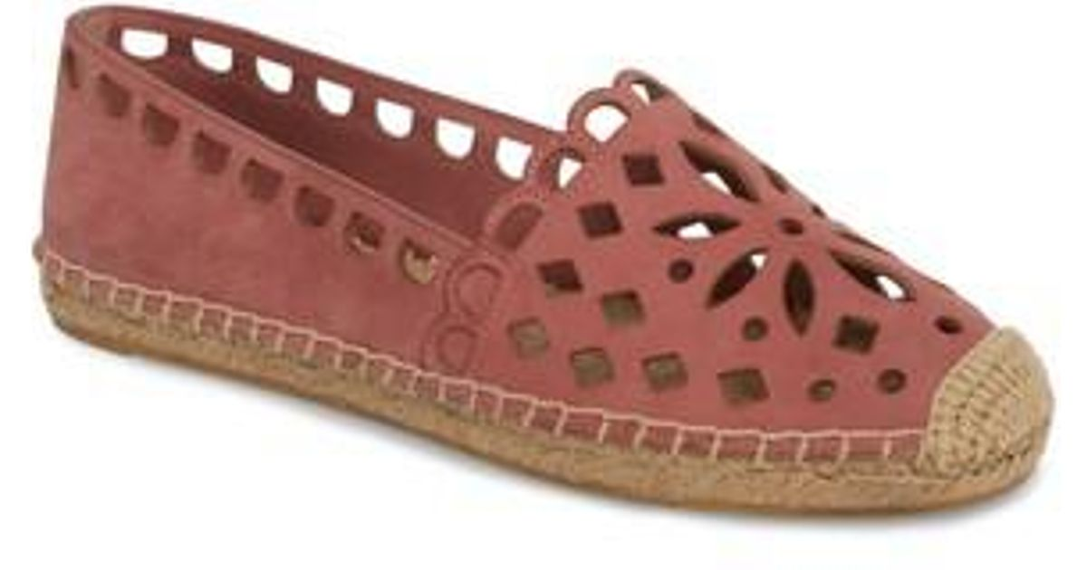 c434abdcc6a Lyst - Tory Burch May Perforated Espadrille Flat in Pink