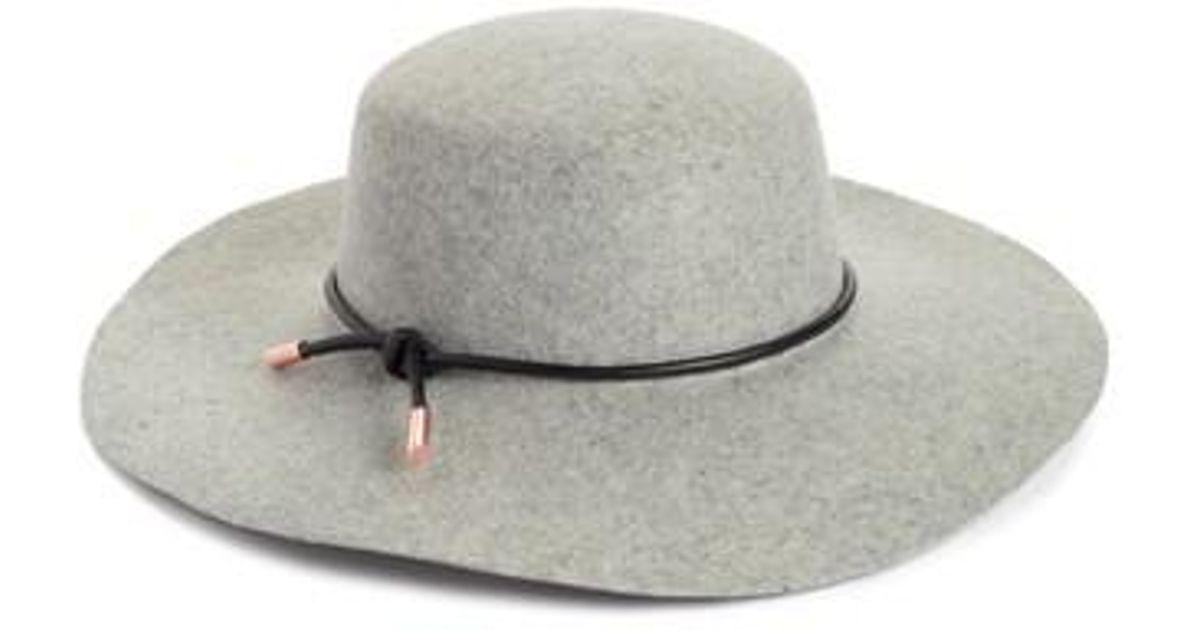 c0786fce800a4 Lyst - Ted Baker Rope Trim Wool Felt Hat in Gray
