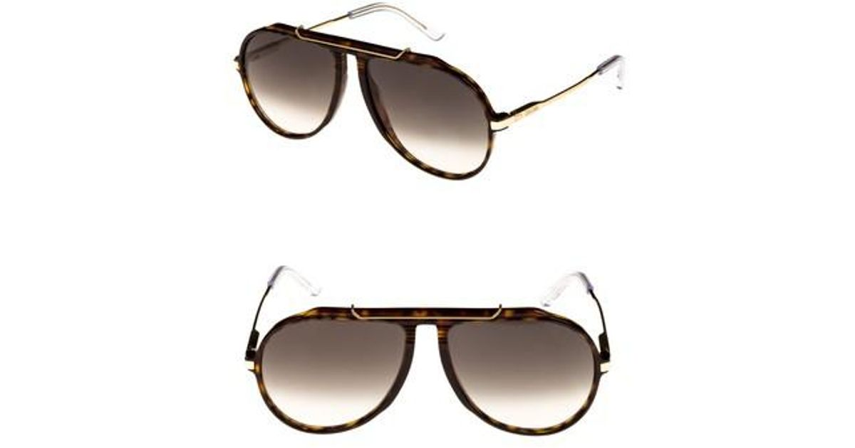 bae83ec38d0 Lyst - Céline 60mm Gradient Aviator Sunglasses - Dark Havana  Gold  Green